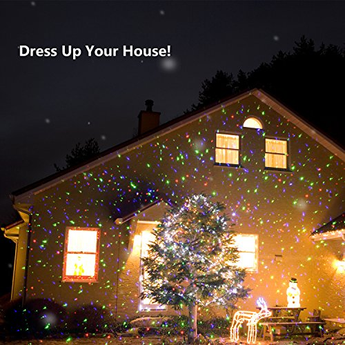 the projector should be placed about twenty five feet from your house and can cover up to 2100 square feet it can be used indoors and outdoors - Christmas Laser Projector Lights