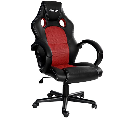 Merax Executive Home Office Computer Chair Racing Style Gaming Chair PU Leather Swivel Computer and Office Desk Chair