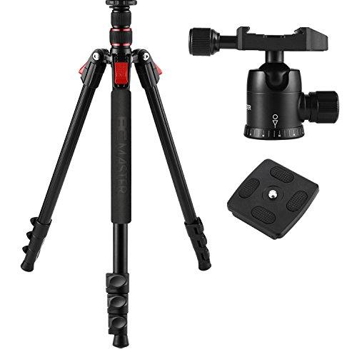 BC Master 75-inch/10-inch Sturdy Aluminum Alloy TA333 Universal Dslr Camera Tripod