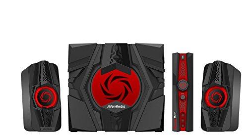 AVerMedia Ballista Unity Gaming Speakers 2.1 Audio Sound System