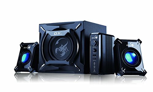 Genius SW-G2.1 2000 2.1 Channel 45 Watts RMS Gaming Woofer Speaker System
