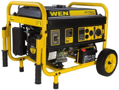 WEN 56475 4750 Watts Gas Powered Portable Electric Start Generator