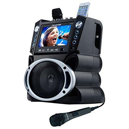 Karaoke USA GF839 Portable System Black