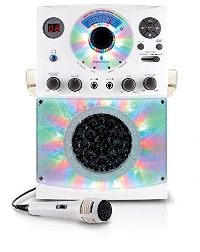 Singing Machine SML385BTW Top Loading CDG Karaoke System