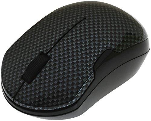 Shhhmouse Wireless Silent Mouse with Batteries - Carbon Fiber