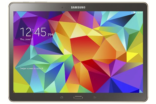 Samsung Galaxy Tab S 10.5-Inch Tablet - Comes in 16 GB version with Titanium Bronze color.