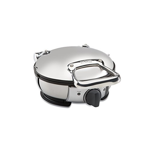All-Clad Waffle Maker (99012GT) Made in Stainless Steel and comes in a Classic Round Shape. This Waffle Maker has a various levels of Browning Settings. Ideal for Commercial Use
