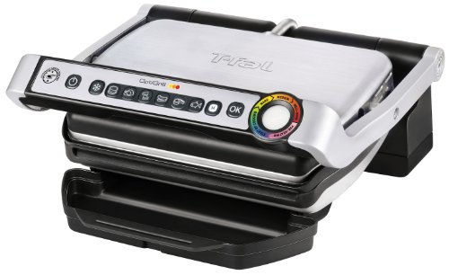 Indoor Electric Grill and Panini Press fromT-fal - Model No. GC702 OptiGrill