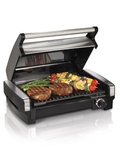 Hamilton Beach Indoor Grill for Flavor and Searing Meat and Veg - Model No.25360