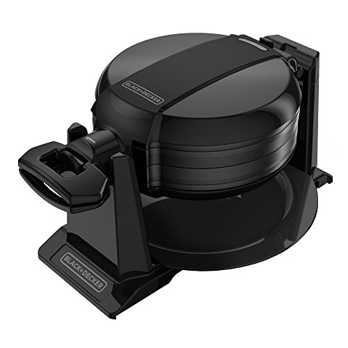 BLACK & DECKER WMD200B - Double Flip Waffle Maker comes in a slick Black