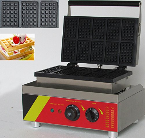 Non-stick Hanchen Electric Waffle Machine - An awesome 10pcs Commercial Waffle Maker