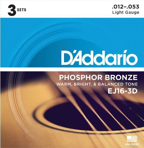 D'Addario EJ16 Phosphor Bronze Acoustic Guitar Strings