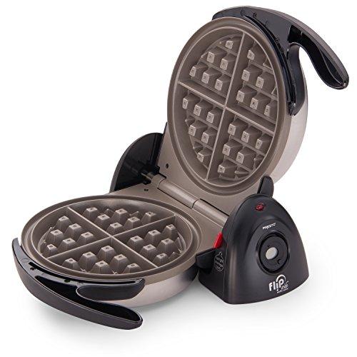 A FlipSide Belgian Waffle Maker from Presto (Model 03510). A Non-Stick Ceramic Finish in 7 inch - Comes in Black.