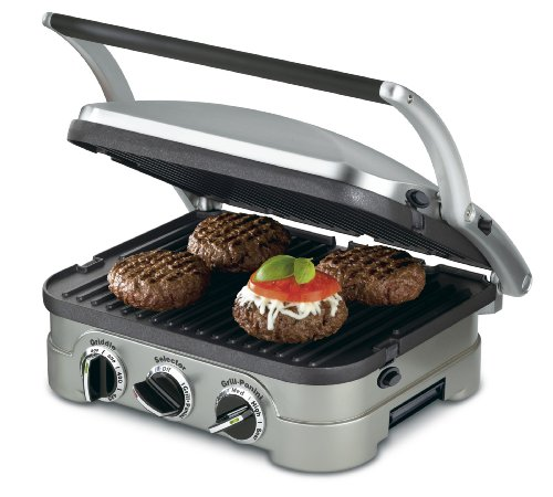 Cuisinart GR-4N 5-in-1 Griddler Electric Grill and Panini Press