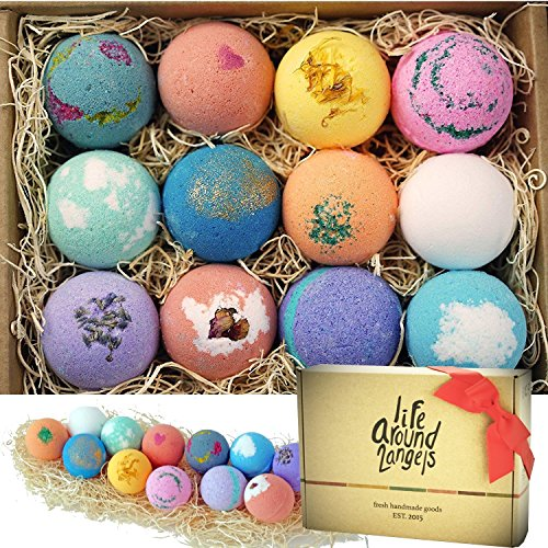 LifeAround2Angels Bath Bombs Gift Set- 12 pack