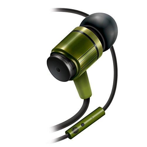 Durable Heavy Duty Earbuds by GOgroove - Ergonomic Green In-Ear Earphones