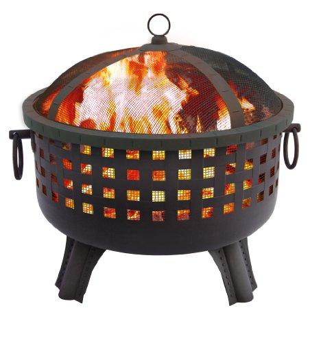 Landmann 23-1/2-Inch Savannah Garden Light Fire Pit in Black