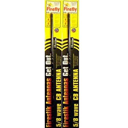 FireStik LOT of 2 FL4-B 4-Feet Firefly CB Antenna