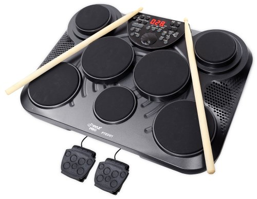 Electronic Table Digital Drum Kit by Pyle-Pro - Model PTED01 - Comes with 7 digital drum pads