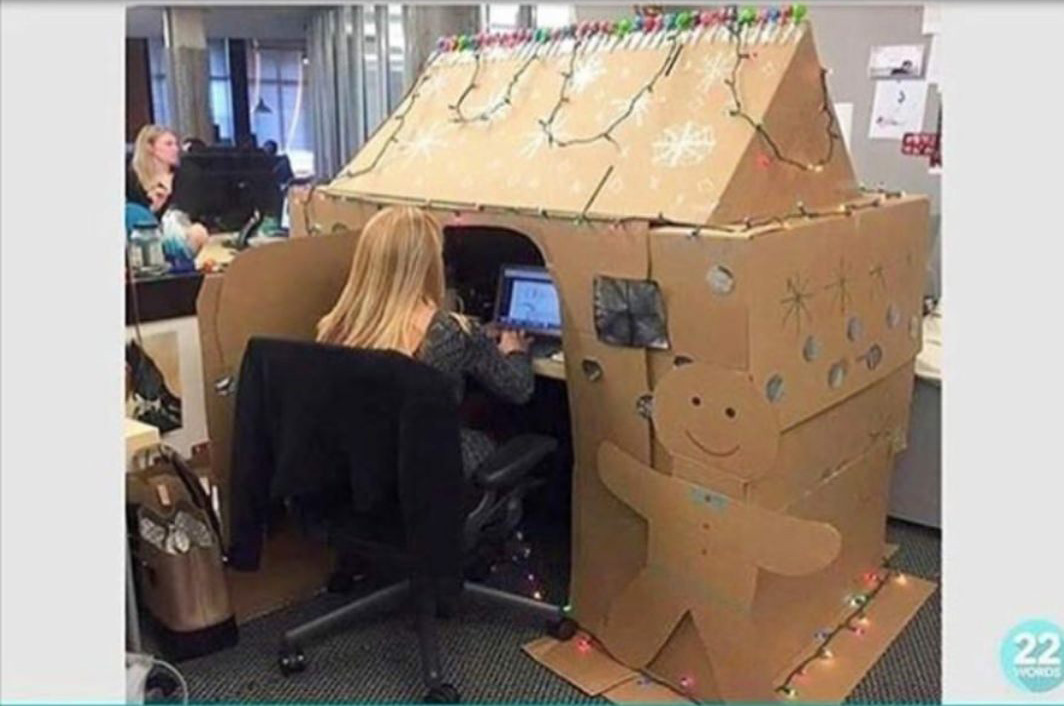 The most christmas obsessed office worker ever - Make a house a home ...