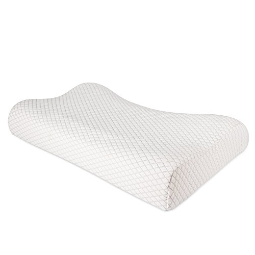 Nursal Soft Memory Foam Pillow - Ergonomic Pillow for Neck Pain Relief, Orthopedic Bed Pillow with Washable Pillow Cover