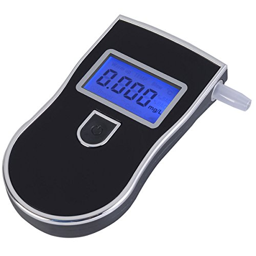 Portable Breath Alcohol Tester, Professional Breathalyzer Police LCD Display by Ebro