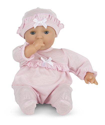 Melissa and Doug Mine to Love Jenna 12-Inch Soft Body Baby Doll With Romper and Hat