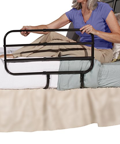 Bedside Extend-A-Rail - Comes with Adjustable Bed Rail and Stand Support Handle + Included Safety Strap From Able Life