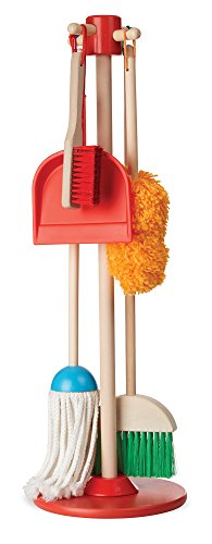 Melissa and Doug Let's play House Dust! Sweep! Mop! 6-Piece Pretend Play Set