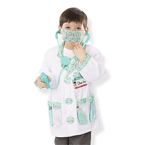 Melissa and Doug Doctor Role Play Costume Dress-Up