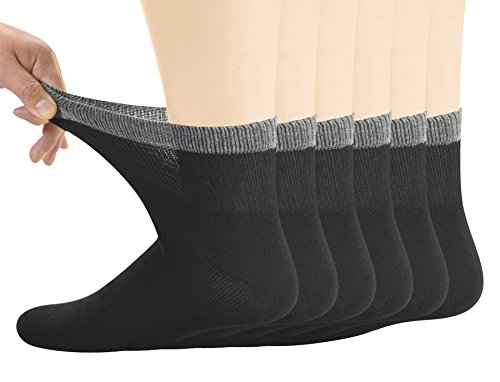 Bamboo Diabetic Ankle Socks for Men By Yomandamor
