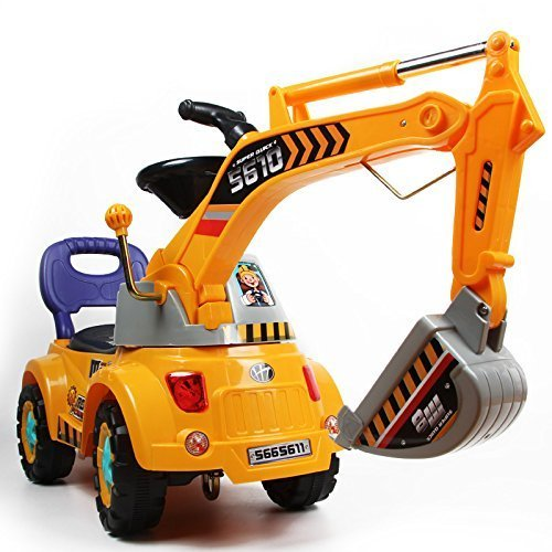 POCO DIVO - Digger scooter, Ride-on excavator - Pretend play construction truck