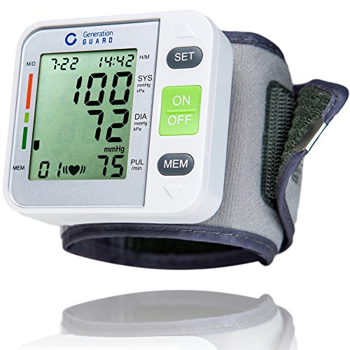 Clinical Automatic Blood Pressure Monitor - Adjustable Wrist Cuff Perfect for Health Monitoring