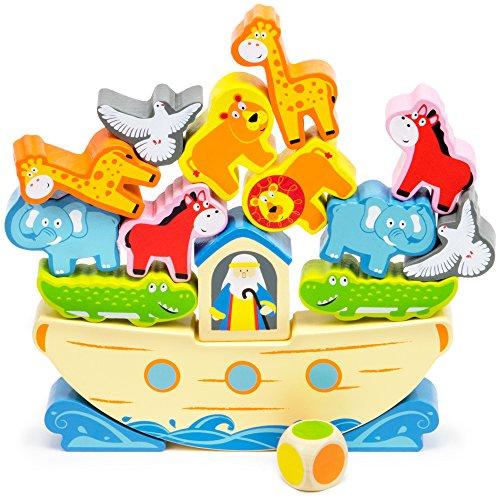 Noah's Balancing Ark Stacking Game, 17-Piece Block Balancing Play Set by Imagination Generation