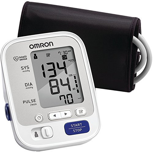 Upper Arm Blood Pressure Monitor fromOmron - Model NumberBP742N 5 Series - Comes with Cuff that fits average sized arms as well as for the Larger person