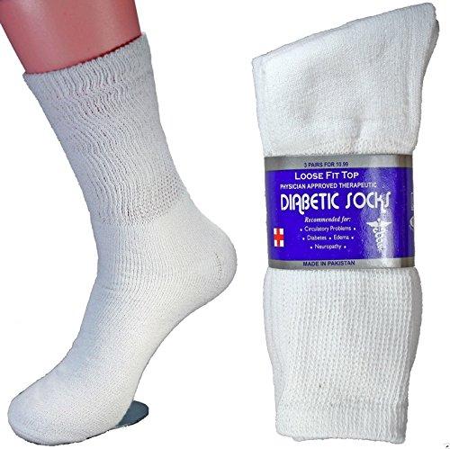 LM - 12 Pairs Diabetic Crew Socks Unisex