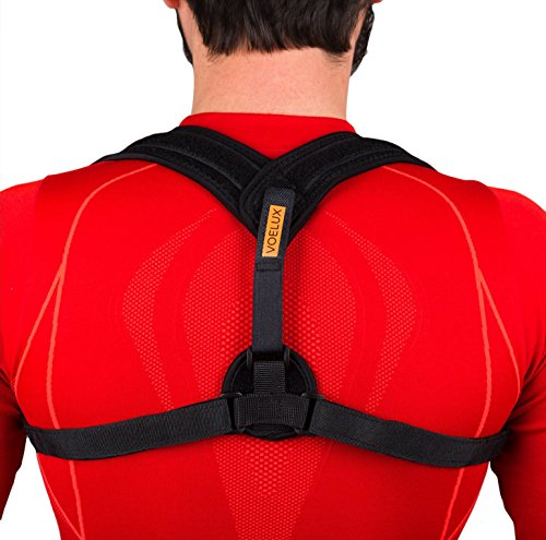 Figure 8 Back Posture Corrector & Clavicle Brace from VOELUX - Fully Adjustable Back Brace