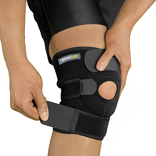 Bracoo Knee Support, Open-Patella Stabilizer with Adjustable Strapping