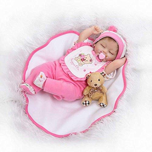 NPK 17-inch Sleeping Soft Reborn Baby Doll Lifelike Silicone Newborn Girl
