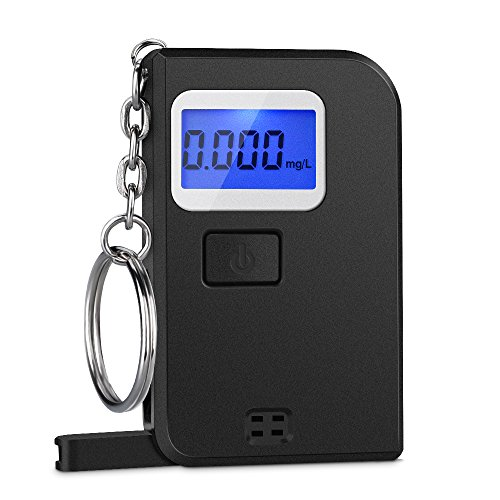 Advanced Keychain Breathalyzer with LCD Display by Homasey