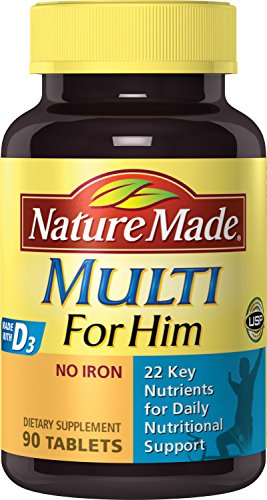 Nature Made Multi For Him Vitamin and Mineral 90 Tablets