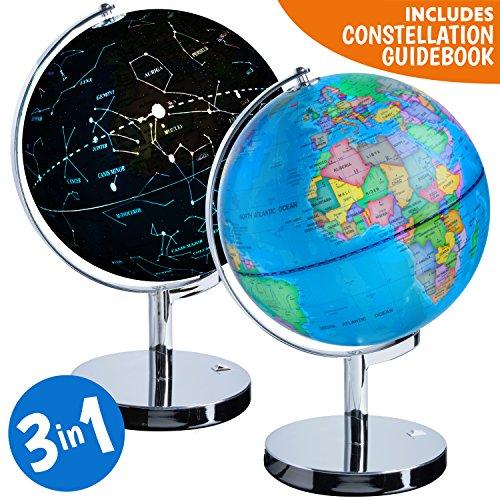 3-in-1 Illuminated World Globe