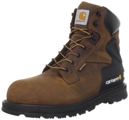 Carhartt Men's CMW6220 6 Steel Toe Work Boot in Bison Brown
