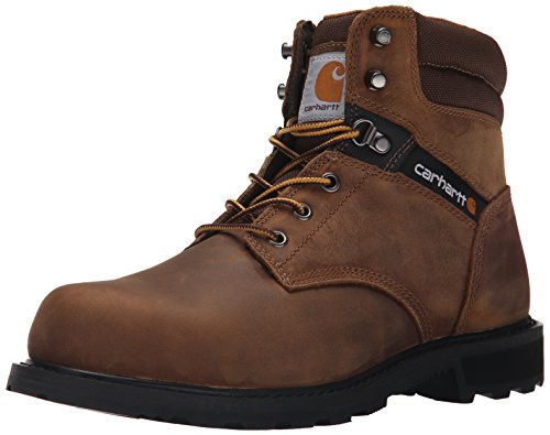 Carhartt Men's 6 Work Safety Toe NWP Work Boot, Crazy Horse in Brown Oil Tanned