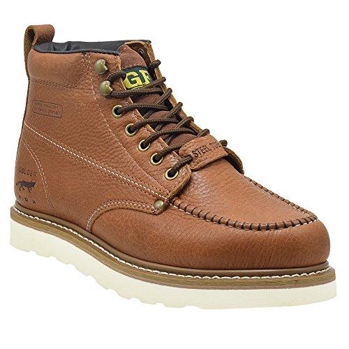 Golden Fox Steel Toe Work Boots Men's 6