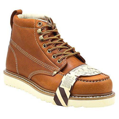 Golden Fox Steel Toe Men's Lightweight Work Boots Moc Toe Boot Insulated - Brun