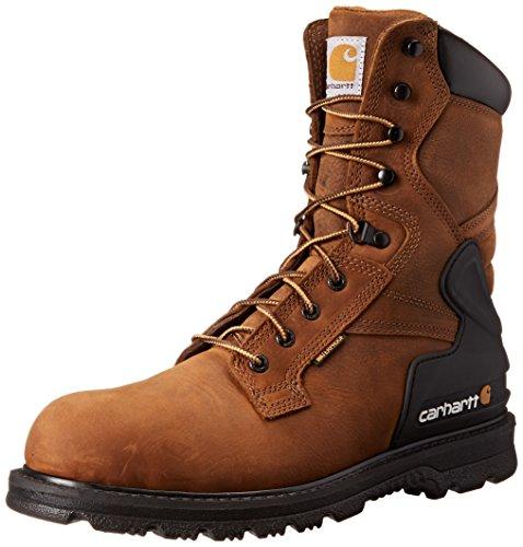 Carhartt Men's CMW8100 8 Work Boot,Bison Brown Oil Tan,10 W US
