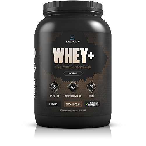 Legion Whey+ Chocolate Whey Isolate Protein Powder - Made by Grass Fed Cows - Great For Weight Loss & Bodybuilding, 30 Servings.