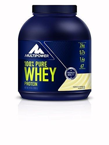 Multipower Vanilla 100 Percent Pure Whey Protein Powder - 2000g tub