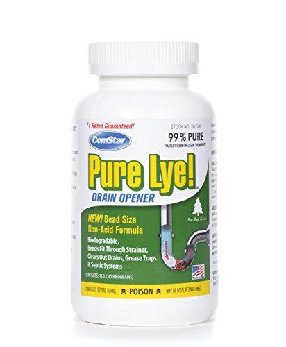 ComStar Pure Lye Bead Drain Opener, 1 lb, White